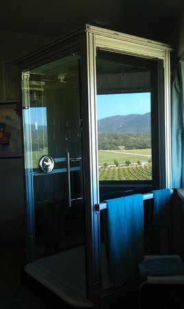 Christopher Joyce Vineyard and Inn: Our free-standing shower overlooking the vineyard