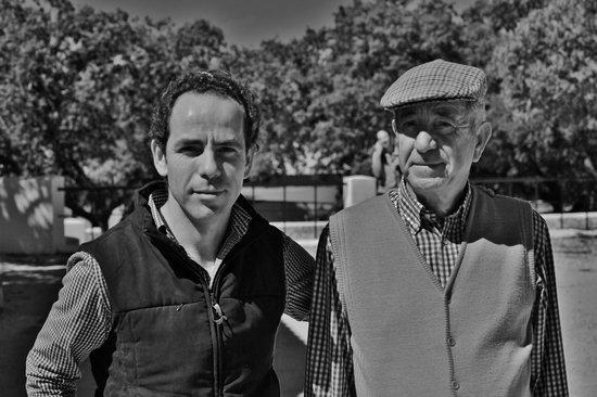 Reservatauro Ronda: Rafael Tejada y su padre.