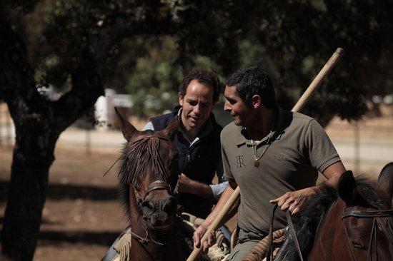 Reservatauro Ronda: Guiando los toros.