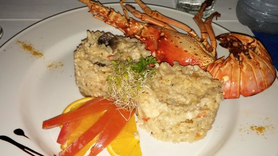 Restaurant le Soleil: lobster and mushroom risotto
