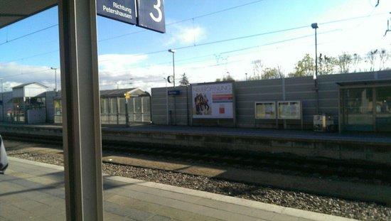 Dachau Train Station, take a taxi to Augustenfelder Hof.
