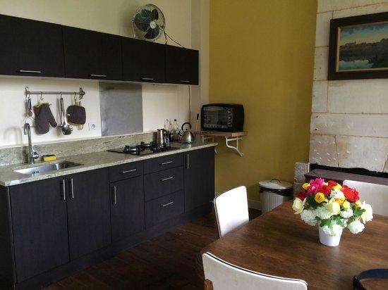 Le Domaine du Meunier : Appart jardin cuisine