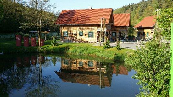 Hessen Mühle 1a exklusive blockhäuser bild landgasthof hessenmühle