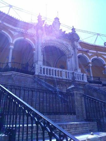 Plaza de Toros de la Maestranza : Royals seating  area   at the Bull Fighting  Ring