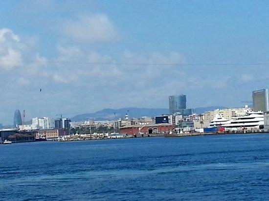 Las Golondrinas: view whilst on harbour tour