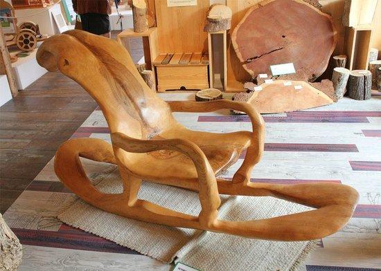Holzmuseum : Sedia a dondolo in unico pezzo