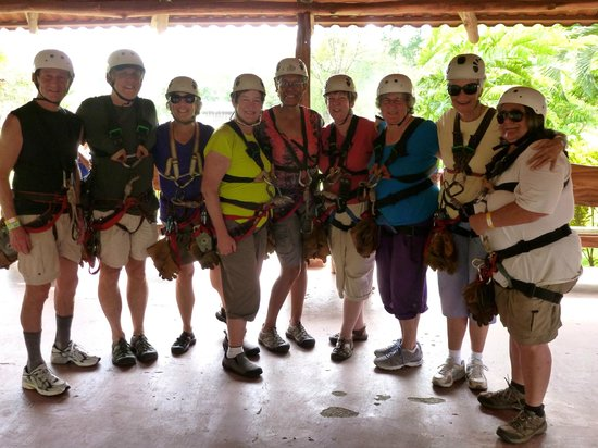 Canopy Vista Los Suenos : Friends Preparing for 1st Time Zip-Lining