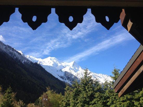 Mercure Chamonix Centre Hotel : cliché de notre Chambre avec vue sur le Mont Blanc