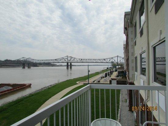 Comfort Suites: view of bridge from room balcony