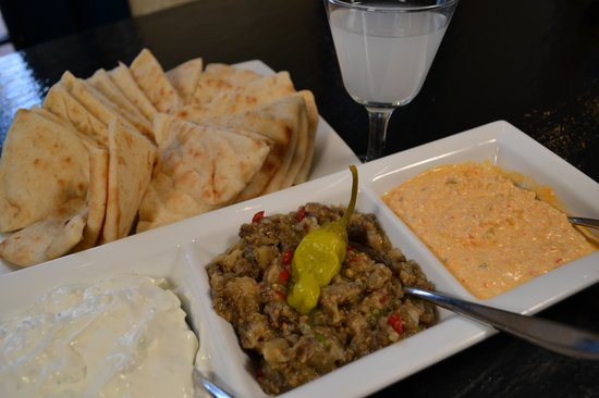 Greek dips picture of ammos virginia beach tripadvisor for Ammos authentic greek cuisine