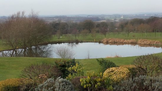 Houghwood Golf: View from back of 1st Tee