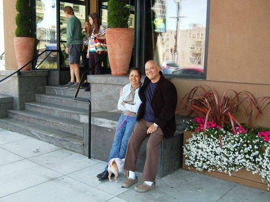 Wife and I enjoying da Vinci Villa