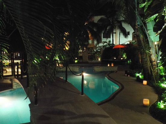 Hotel Riviera del Sol: Pool at night