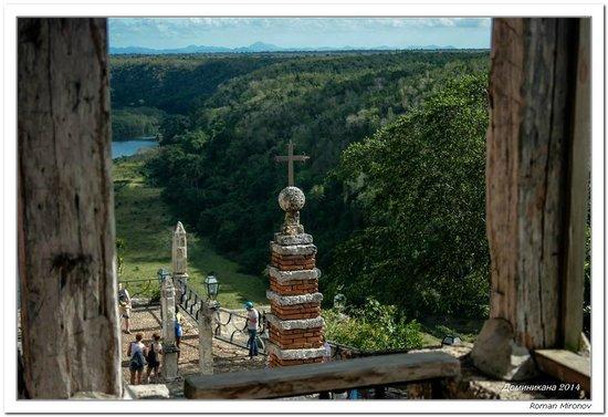 Altos de Chavon: вид со смотровой площадки (колокольни как бы)
