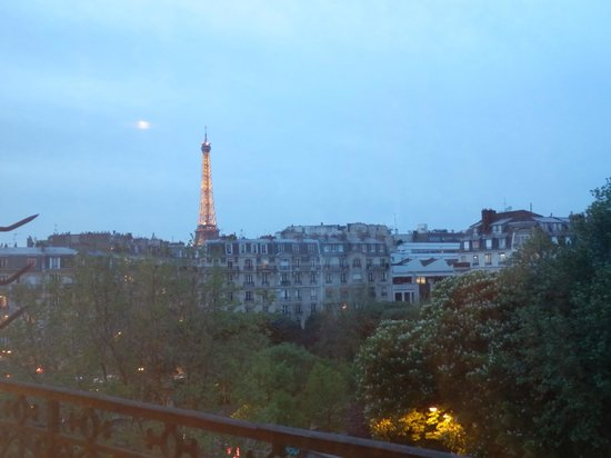 First Hotel: view from my room at night!