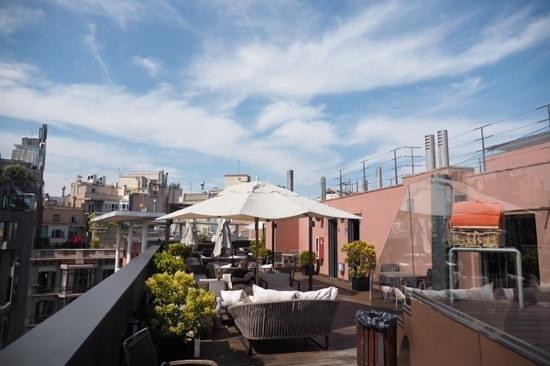Hotel Jazz: rooftop terrace view