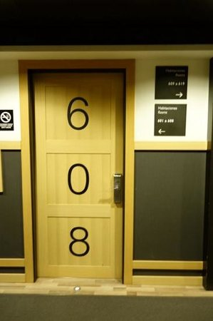 Hotel Jazz: hard to miss your room number at this hotel