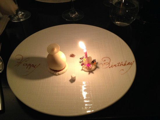Goosefoot : Happy Birthday dessert