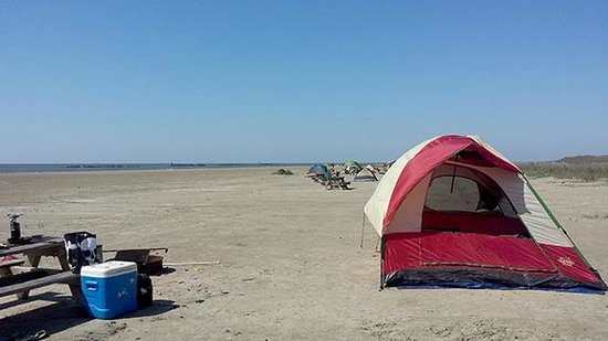 Grand Isle State Park The tent sites on the beach. & Picnic tables by the parking lot - Picture of Grand Isle State ...