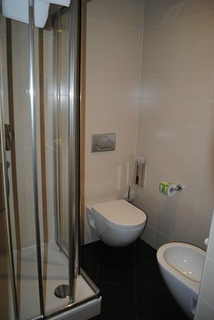 iQ Hotel Roma: Shower and toilet
