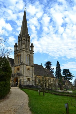 Batsford Arboretum: the church used by Lord Redesdale and his family