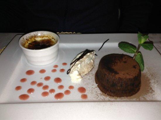 Belvedere dal 1933: шоколадный торт с горячей шоколадной начинкой