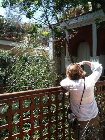 RIAD TAFILAG : Il cortile visto da davanti la nostra stanza