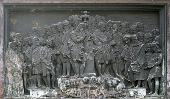 European Panel, Gutenberg Monument (David d'Angers (1840), Place Gutenberg
