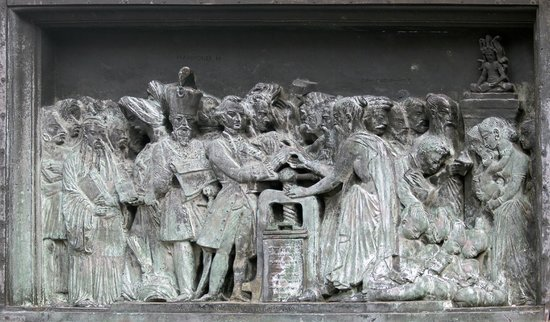 Asian Panel, Gutenberg Monument (David d'Angers (1840), Place Gutenberg