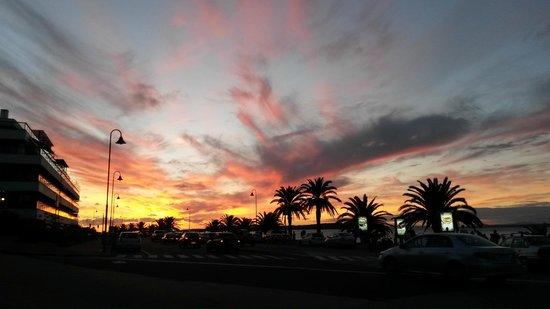 Playa Mansa : por do sol