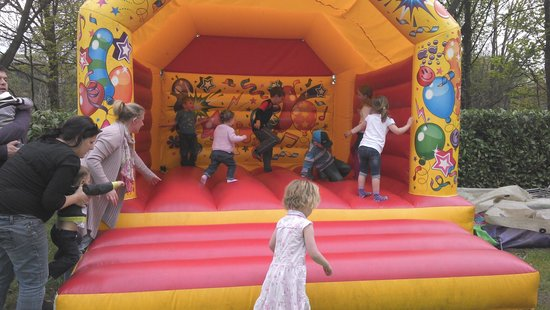 Kirklees Light Railway: The bouncy castle at Shelley station, the other end of the line