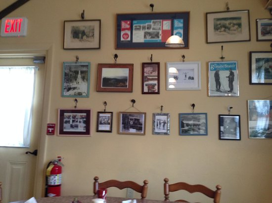 selection of photos in main dining room at Kitchen Cravings