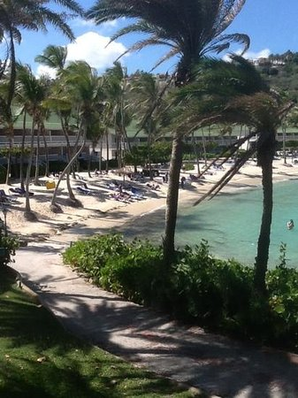 St. James's Club: view of coco beach