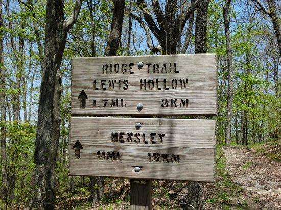 Cumberland Gap National Historical Park: Trail Sign