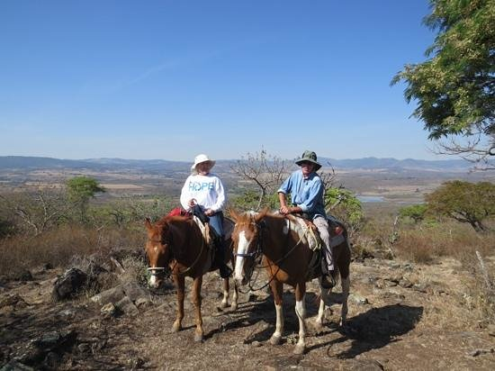 Hacienda de Taos: Illuvia and Pirate with their riders.