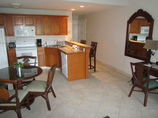 Royal West Indies Resort: 1BR unit, living room, reverse view