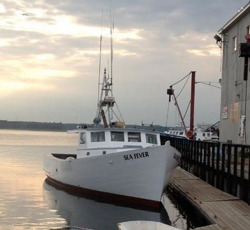 Seabrook, NH : Sea Fever- 50 ft Classic wooden boat for deep sea fishing, bass & blue, tuna, etc