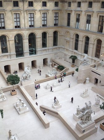 Musee du Louvre: One of the courtyards