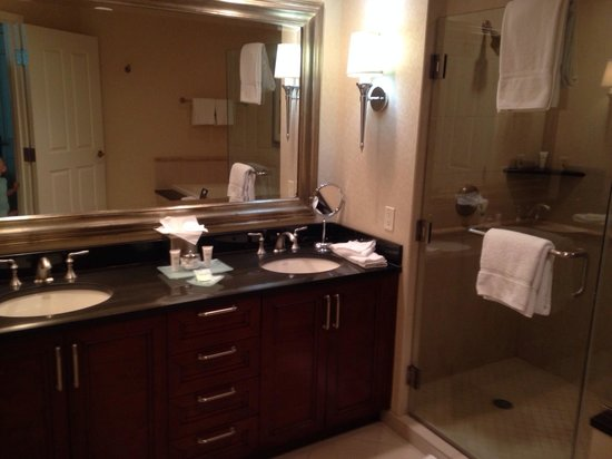 Signature at MGM Grand: Bathroom with shower