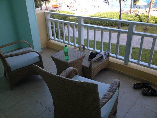 Ocean Blue & Sand: Our balcony