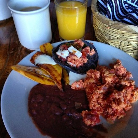 Posada de Santiago: Local Breakfast.  Dont Miss the Blue Corn Pancakes!