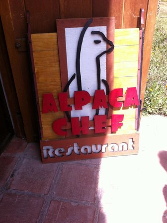 Alpaca Chef: Enseigne