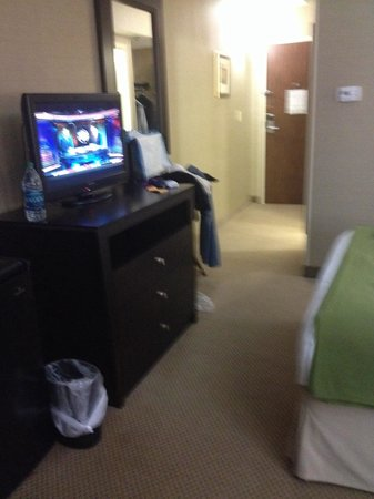 Holiday Inn Express Charleston - Civic Center : Nice tv and area to walk to the closet