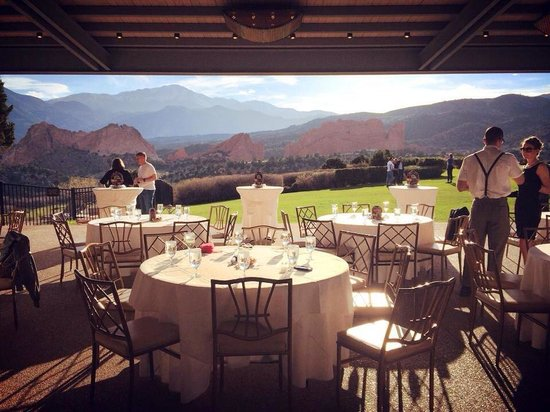 Garden of the Gods Collection: The terrace where our event was held