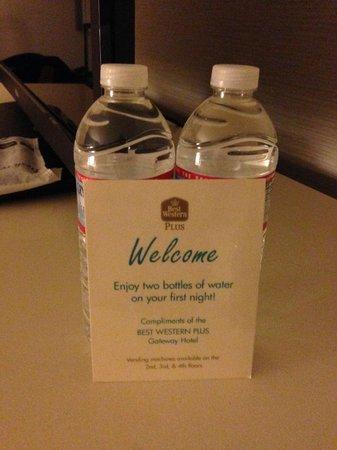 Gateway Hotel Santa Monica: water left in room
