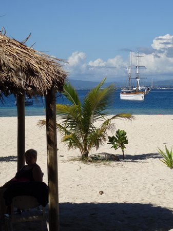 Captain Cook Cruises - Fiji Day & Dinner Cruises : View from the island with Ra Marama