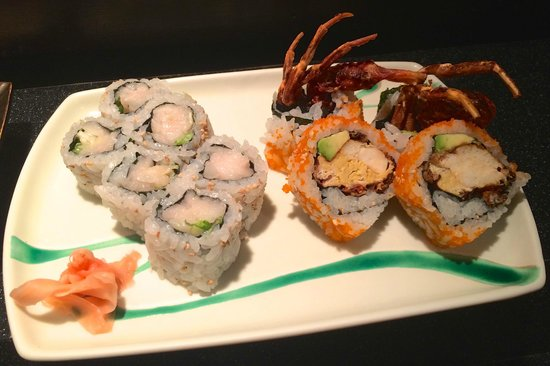 Super White Toro Roll And The Spider Roll Which We Liked