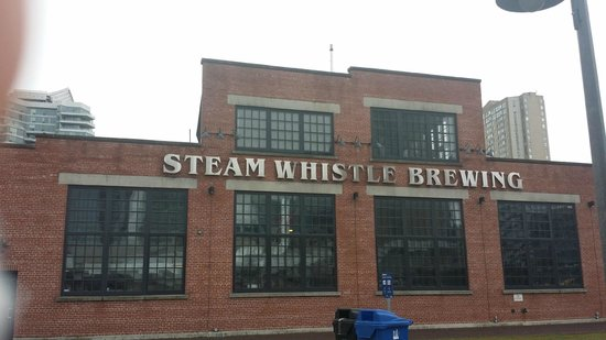 Steam Whistle Brewery: Brewery building. Visible from south building of MTCC