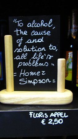 2be Beer Wall: Homer J. Simpson's words about beer.