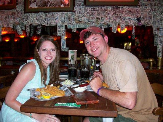 McGuire's Irish Pub: Table at the bar